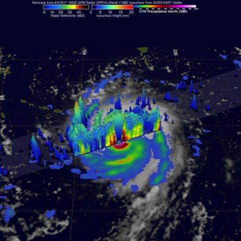 NOAA image of Hurricane Irma, 9/5/2017